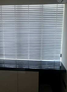 Motorized Combi Shade/Curtains & Wood Blinds (Cabana Condo)