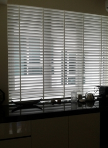 Motorized Leather Blinds (Nassim Park Residence)